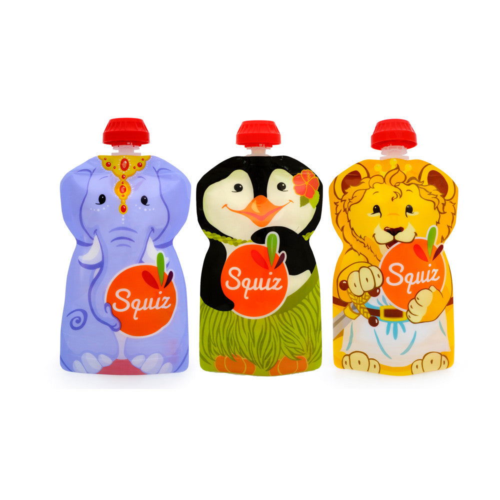 Squiz,  Refillable and Reusable Squeeze Bags