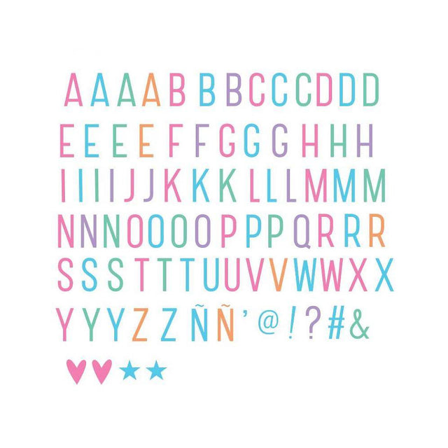 LIGHTBOX LETTER SET: Pastel