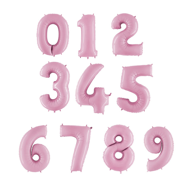 Number Balloons - Rose