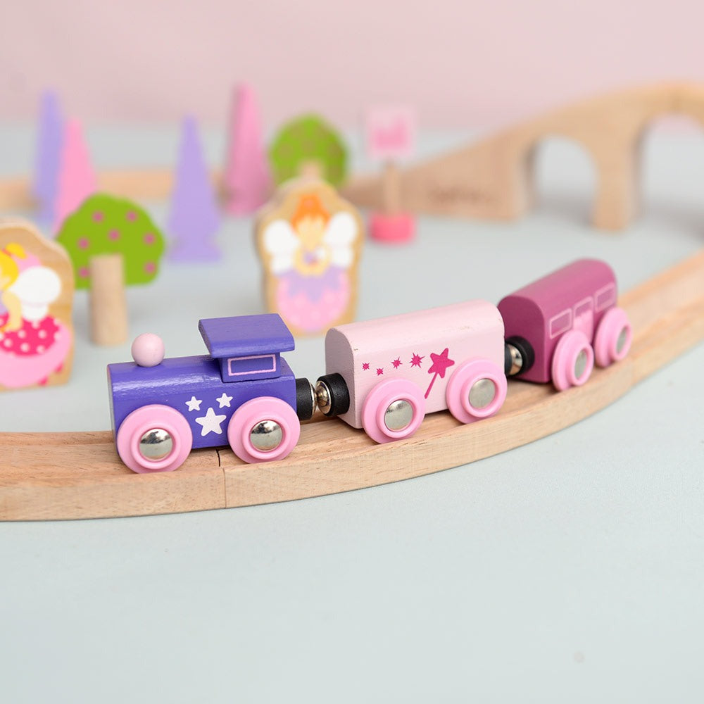Bigjigs - Train Set - Pink
