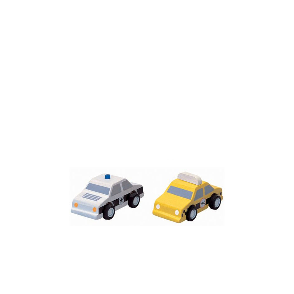 Plan Toys, City Taxi & Police Car