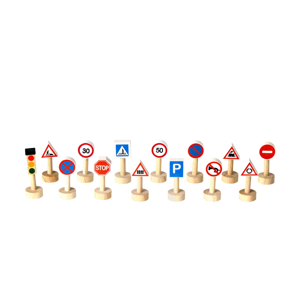 Plan Toys, Set of Traffic Signs & Lights