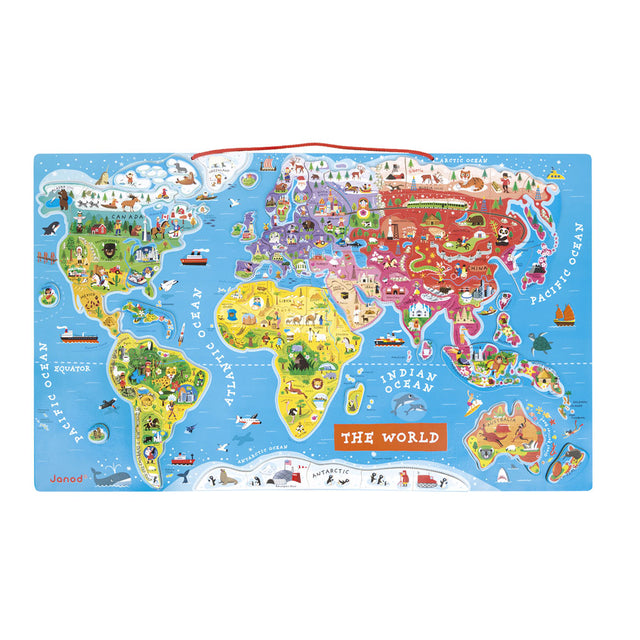 Magnetic World Puzzle