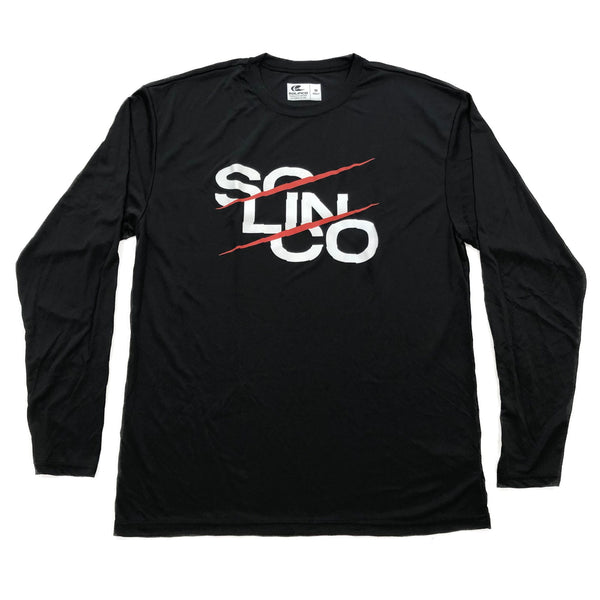 "Solinco Long Sleeve ""Stack Print"" Black Tee"