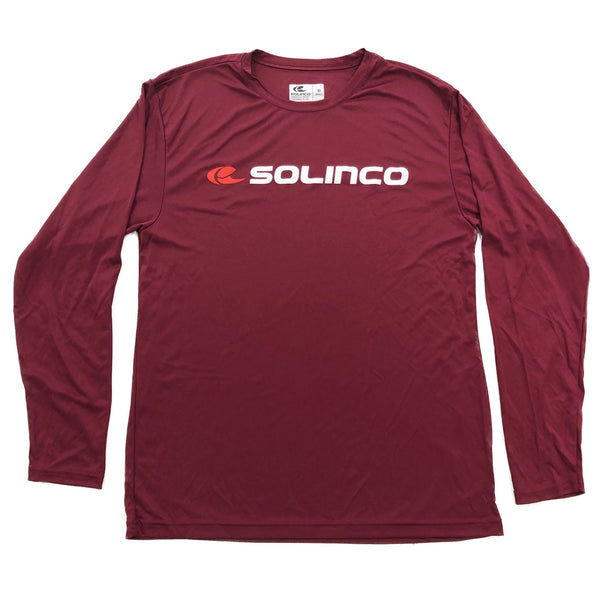 Solinco Long Sleeve Cardinal Tee