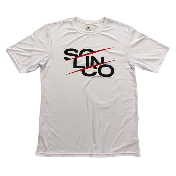 "Solinco Short Sleeve ""Stack Print"" White Tee"