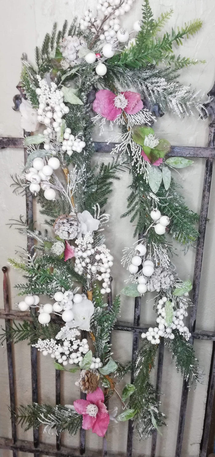 Luxury Garland white/green/pink