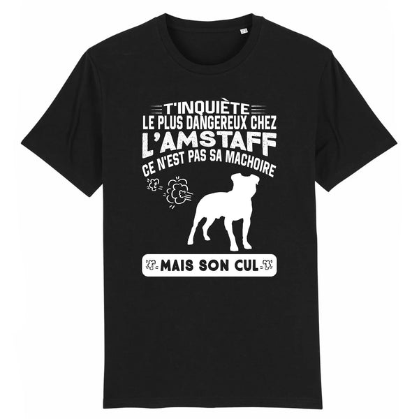 tshirt homme amstaff humour