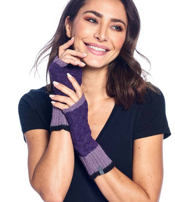 Alpaca Gloves - Color Block - Berry
