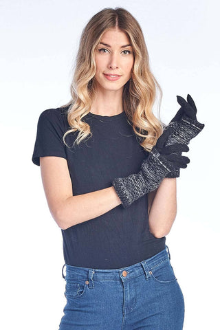 Alpaca Full Gloves - Stitch - Night