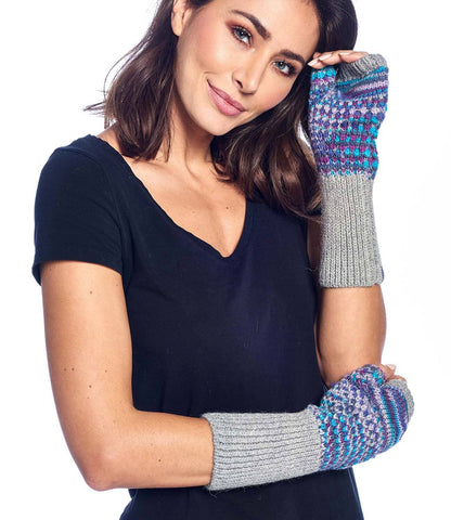 Alpaca Gloves - Speckle - Berry