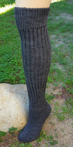 Knee High Alpaca Charcoal