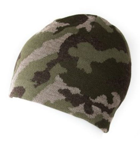 Alpaca Hat - Camouflage Beanie reversible to Hunter Orange