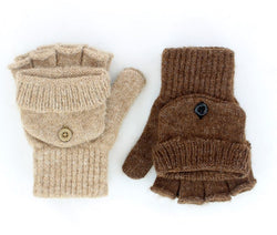 Alpaca Glittens - Made in USA Glove convertible to Mitten for Men, Women in Small Medium Large