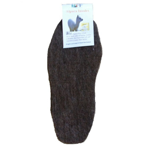 Alpaca Insoles for Footwear - Made in USA - Small Medium Large Extra Large