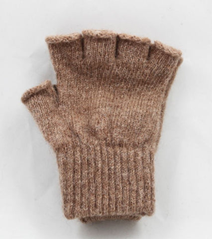 Fingerless Mitts Camel Color