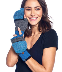 Alpaca Mittens - Color Block - Azul