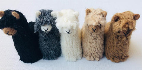 Suri Alpacadorable Hand Made Baby Alpaca Ornaments