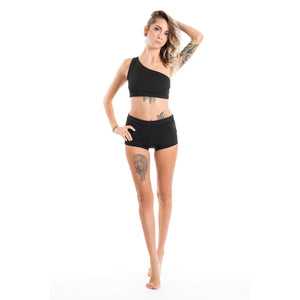 Shorts con fascia total black