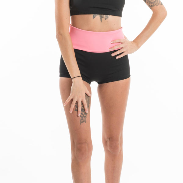 Shorts con fascia bubble gum