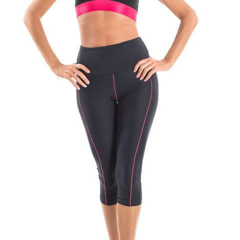 Capri pants black + pink