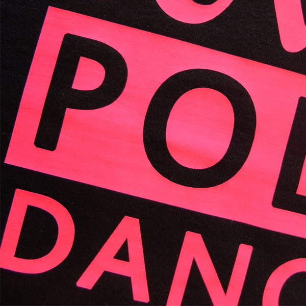 Love pole dance crop top