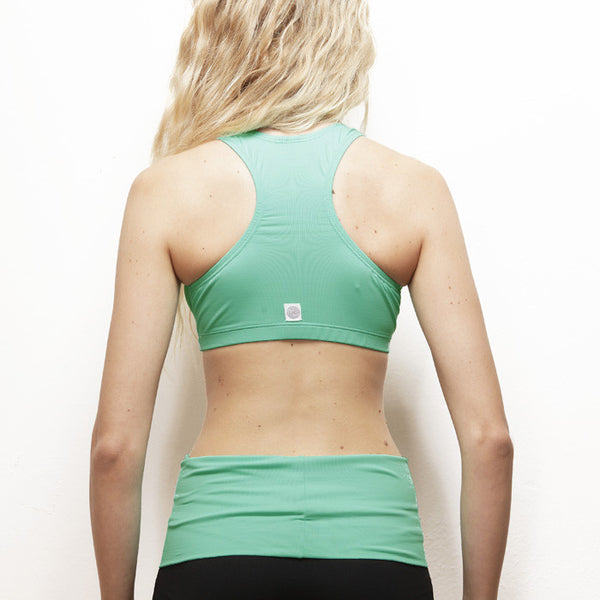Top racerback verde acqua