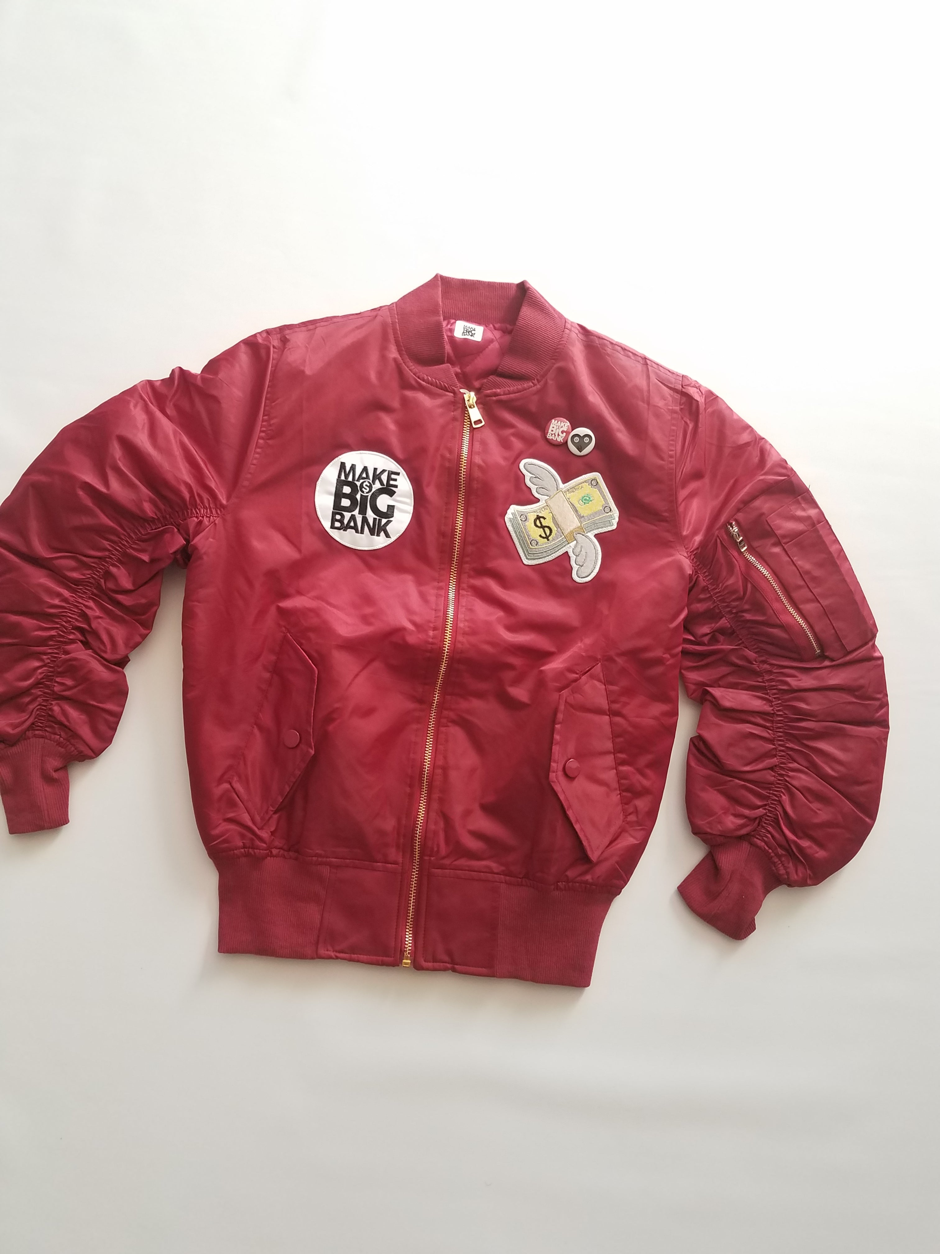 Womens Money Wing Bomber Jacket - Make Big Bank