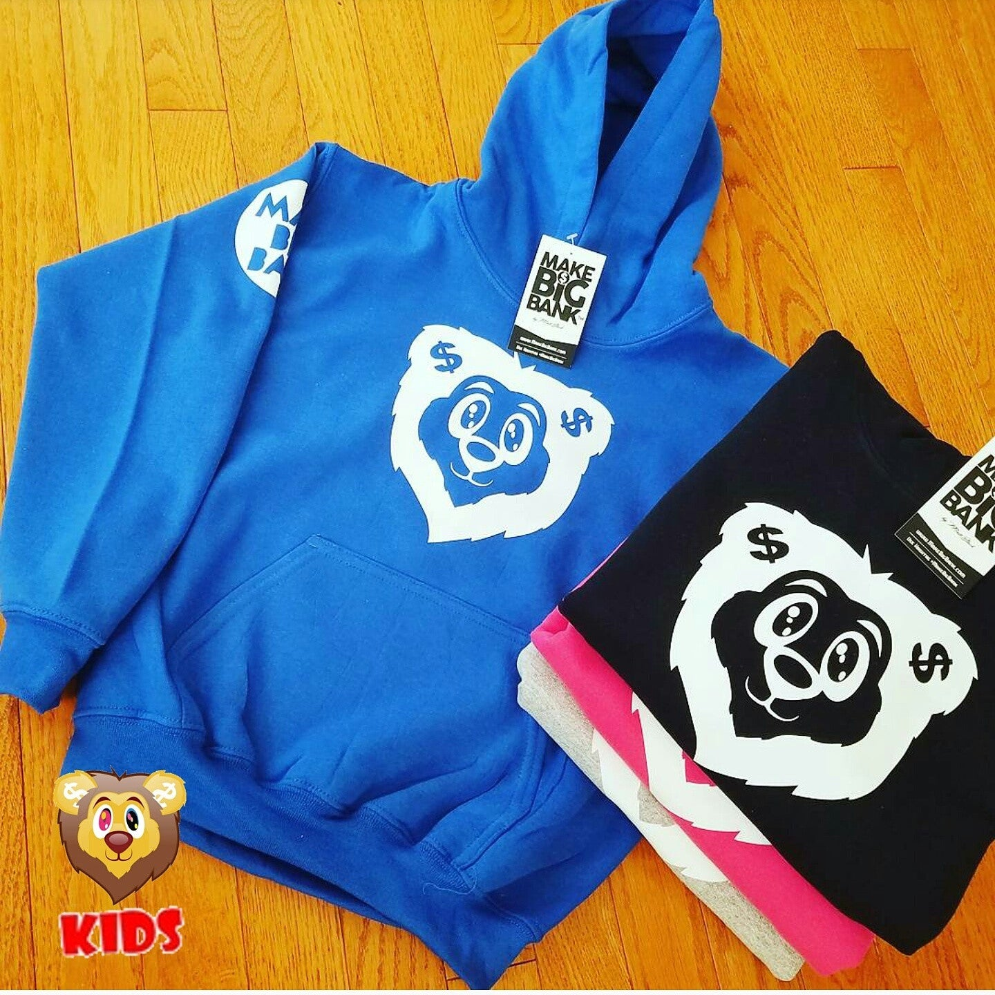Kids Lion Hoodie - Make Big Bank