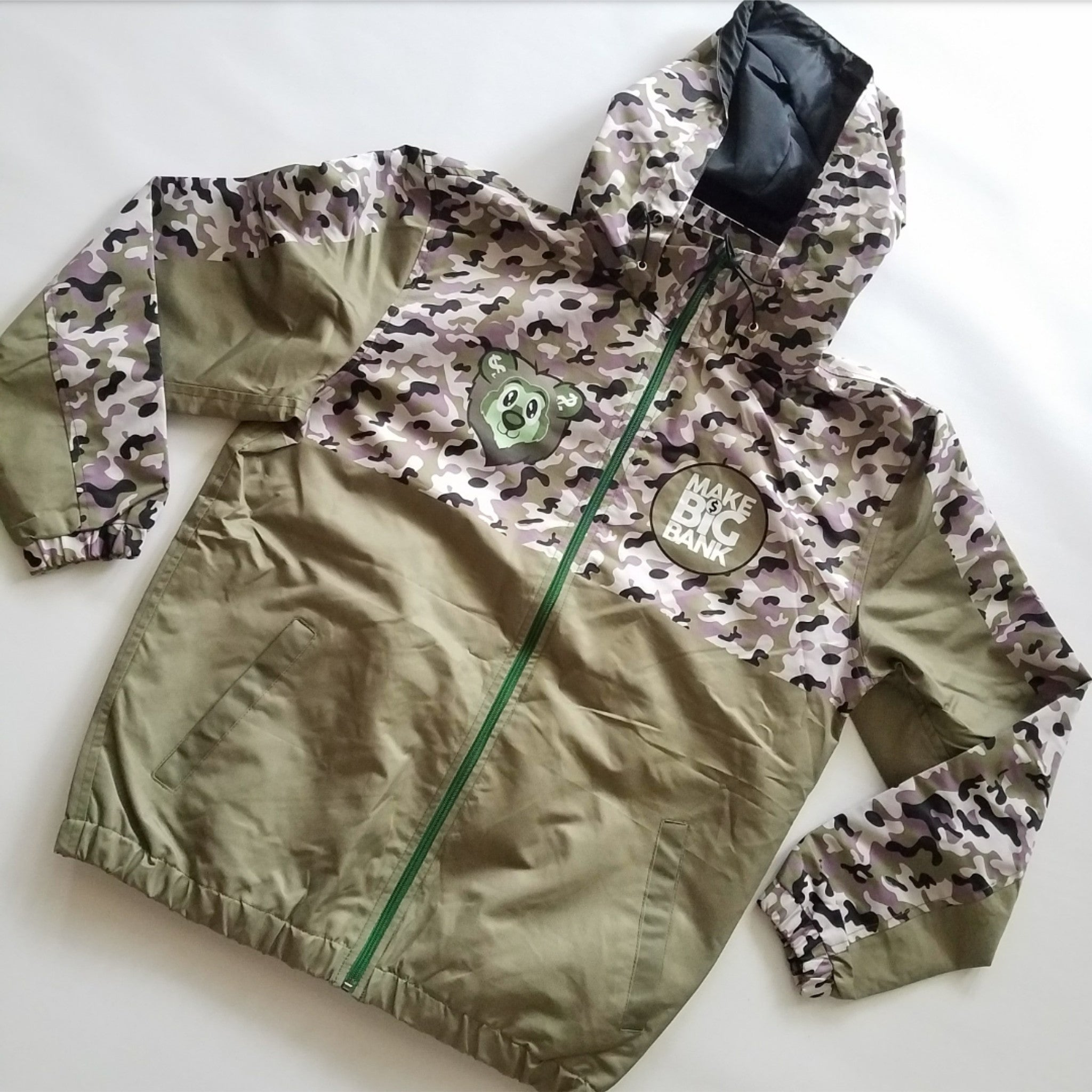Camo Windbreaker - Make Big Bank