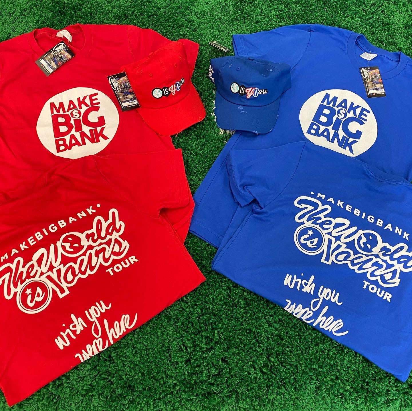 The World Is Your Tour Tee - Make Big Bank