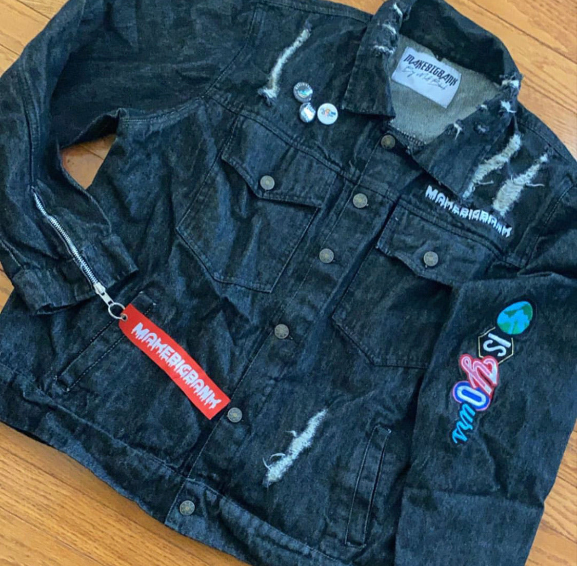 Denim Jacket - Make Big Bank