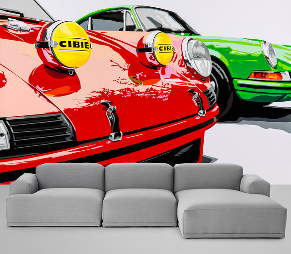 Wallpaper RedGreen 911
