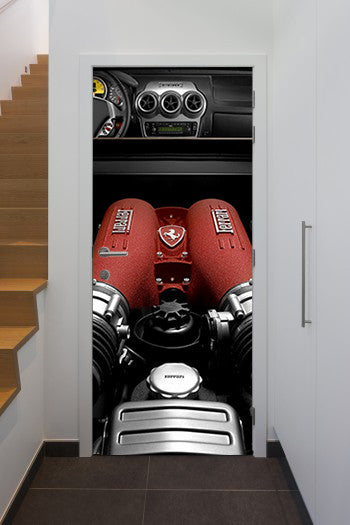 Doorwrap Ferrari engine