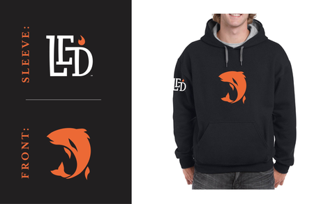 LED™ Fish Blend Hoodie Black/Orange