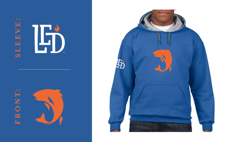 LED™ Fish Blend Hoodie Blue/Orange