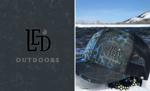 LED Outdoors™ Black N Blue Kryptek Cap