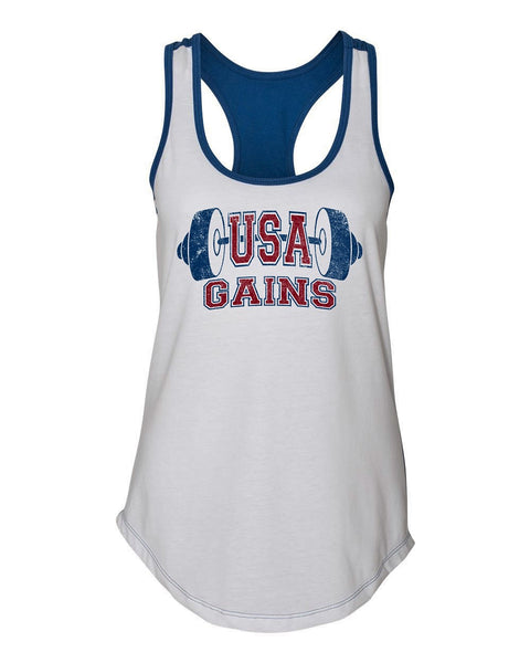 USA Gains Women's Colorblock Racerback Tank