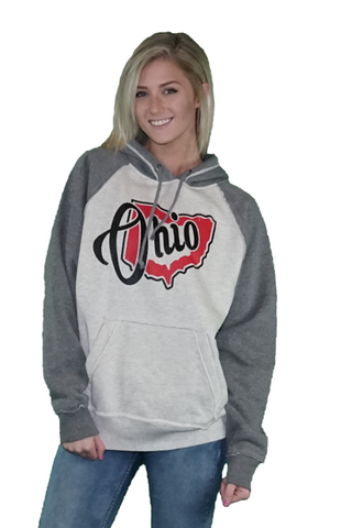 Women's Ohio Vintage Hooded Sweatshirt