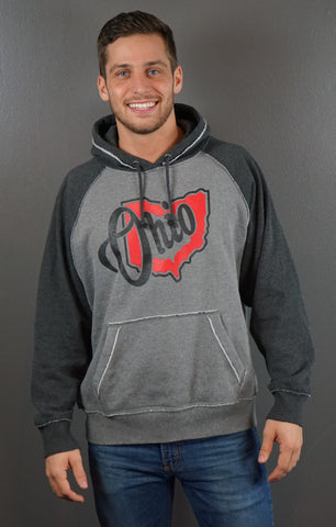 Ohio Vintage Hooded Sweatshirt
