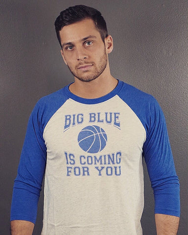 Men's Big Blue Kentucky Basketball 3/4 Sleeve Raglan T-Shirt