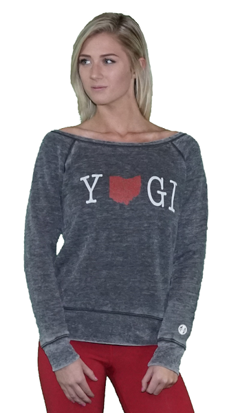 Ohio YOGI Women's Sponge Fleece Wideneck Sweatshirt
