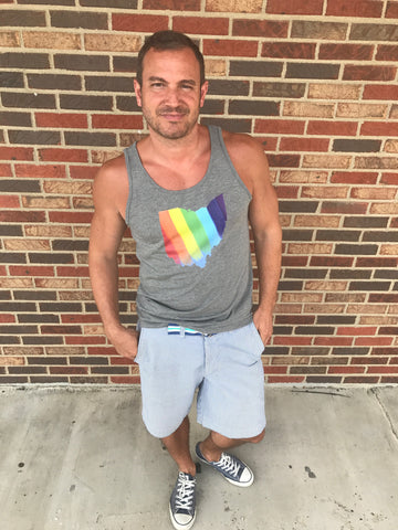 Ohio Rainbow Men's Triblend Tank