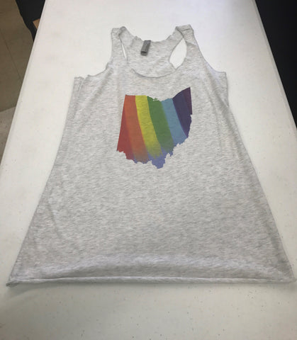Ohio Rainbow Women's Triblend Tank Top