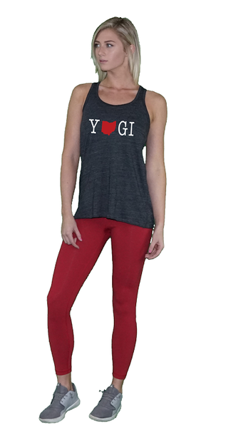 Women's Ohio YOGI Flowy Racerback Tank Top