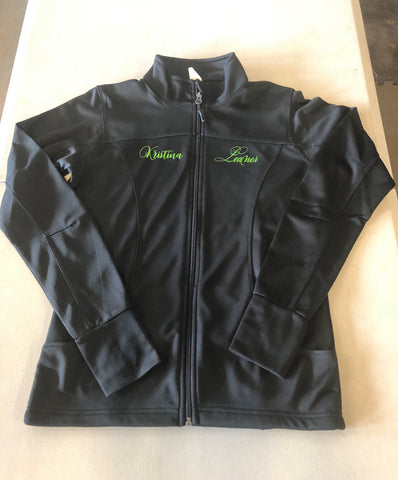 See You Later Leaner Women's Poly-Tech Full-Zip Track Jacket (can be customized with name)