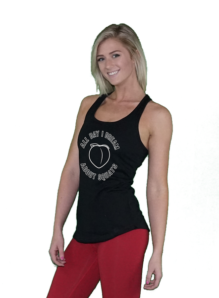 Women's Squats Racerback Tank Top