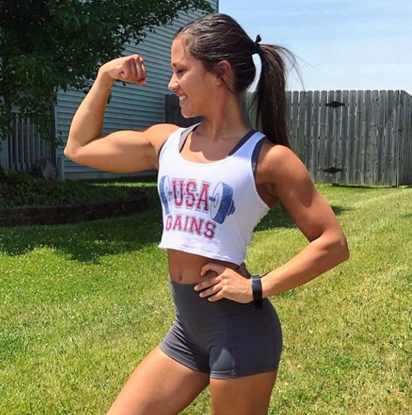 USA Gains Women's Crop Tank