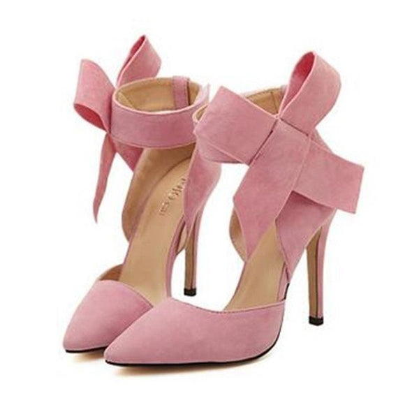 Big Bow Tie Butterfly High Heels