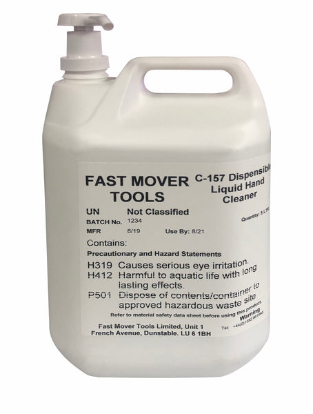 Fast Mover Tools, Heavy Duty Liquid Hand Cleaner with Pump, 5ltr - Houghton Tools